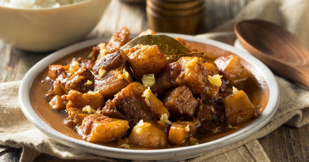 adobo dish on a plate