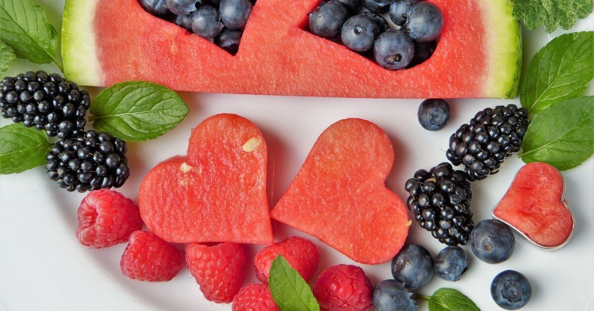 fructose-rich watermelon and berries